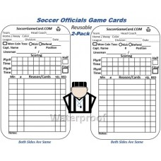 Soccer Referee Game Card - Reusable Soccer Score Cards (Reusable)