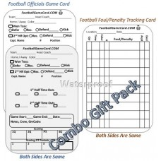 Football Referee Game Cards - Referee Gift Combo Pack