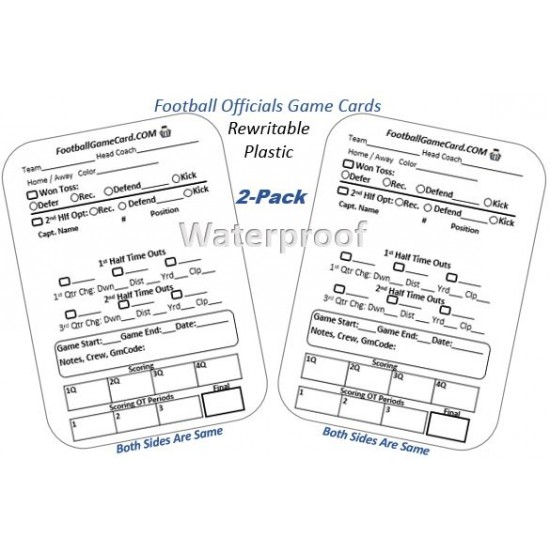 Football Referee Game Cards - Reusable Football Referee Cards (2 Pack)