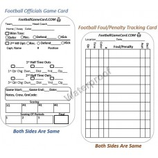 Football Referee Cards - Game Stats & Penalty Information Cards