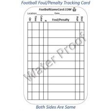 Reusable Football Referee Penalty Card (Pkg of 50)