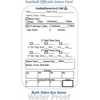 Football Game Card – Reusable Football Referee Score Card