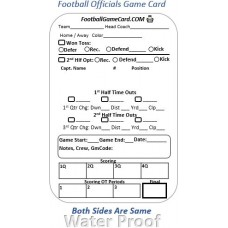 Football Referee Card – Reusable Referee Score Card