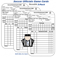 Soccer Referee Score Card - Referee Penalty Warning Cards (Reusable)